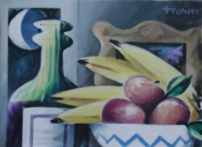Still Life with Crescent Moon by Barry Trower (2012).