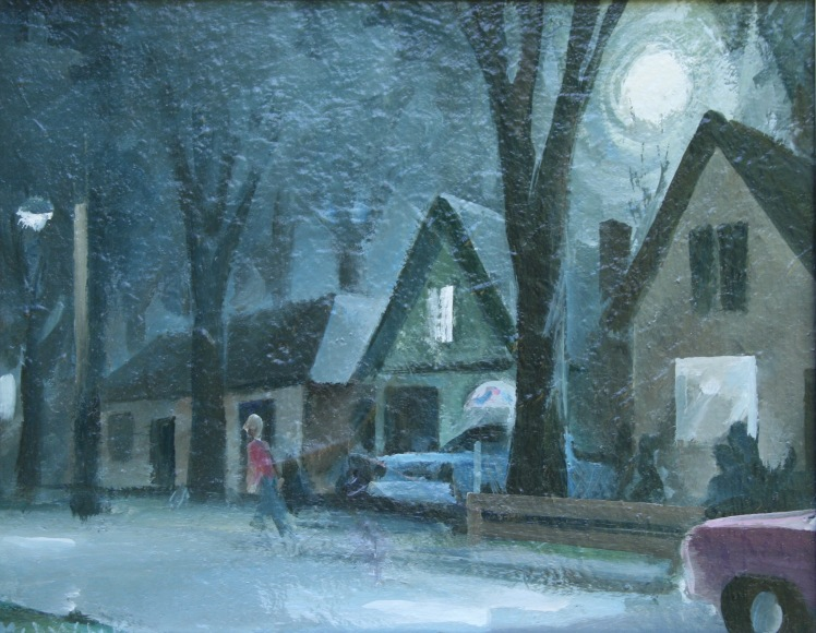 Elizabeth St. by Moonlight by Barry Trower.