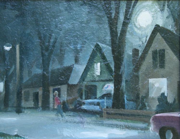 Elizabeth St. by Moonlight by Barry Trower.