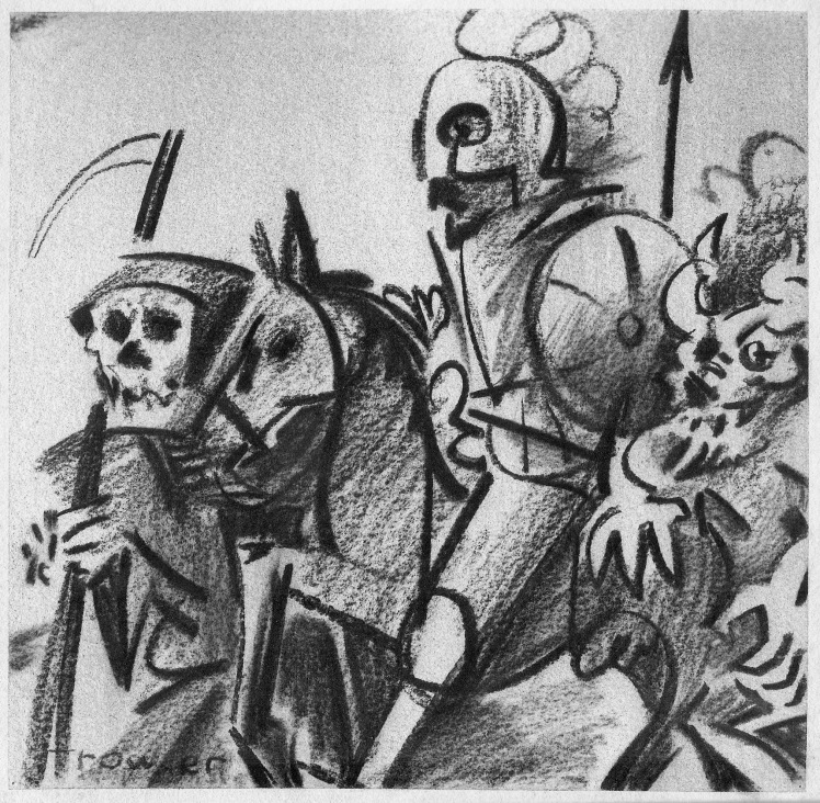 Death, Knight and the Devil by Barry Trower.