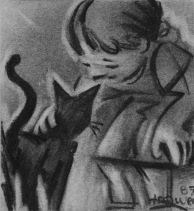 Girl With Cat by Barry Trower (1987).