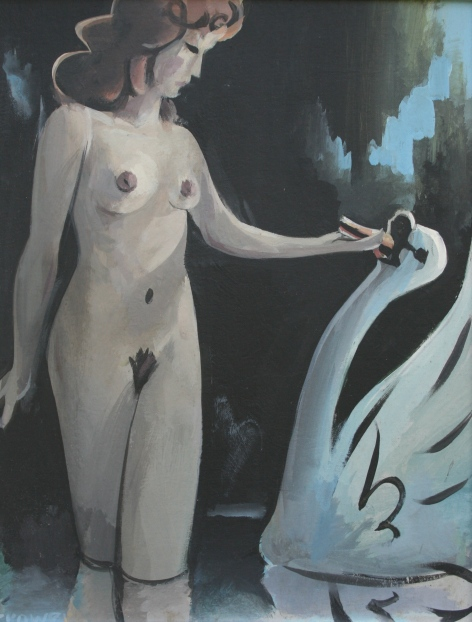 Leda and the Swan by Barry Trower (1985).