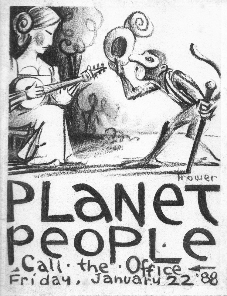 "Planet People - ""Maiden and Monkey"" by Barry Trower (1988)."