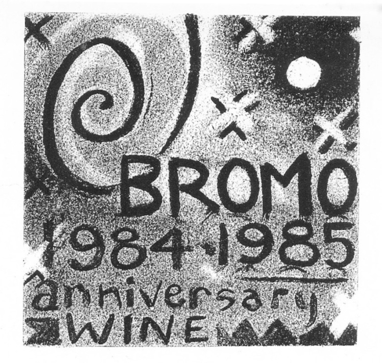 Bromo Anniversary Wine by Barry Trower (1985).