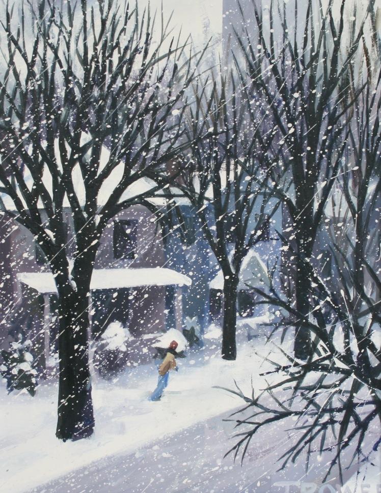 Winter Street by Barry Trower (1989).