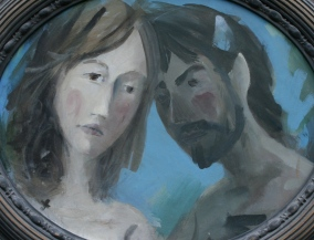 Nymph and Satyr by Barry Trower (1996).