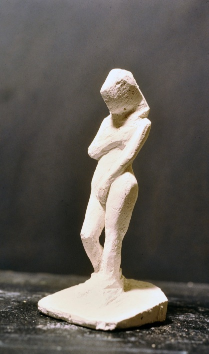 Standing Figure, Plaster of Paris by Barry Trower (1986).