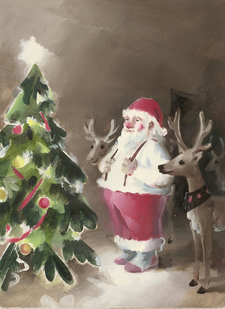 Santa's tree by Barry Trower.